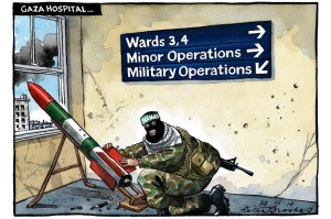 Brookes, Gaza Hospital Cartoon